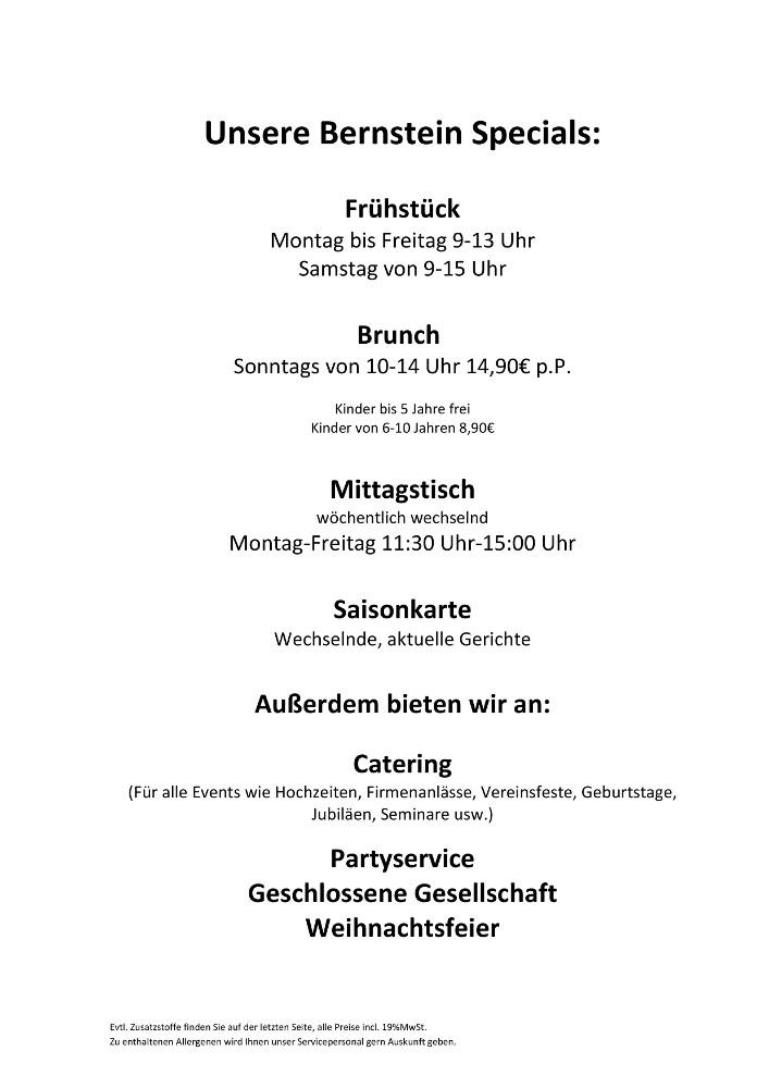 Speisekarte & Getränke « Brasserie Bernstein